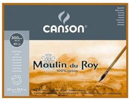 Блок для акварели Canson Moulin du Roy 23 x 30.5 см, 300 г, м2, 20 листов
