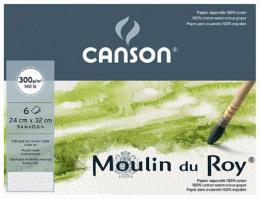 Папка для акварели Canson Moulin do Roy,  Fin, 6 листов